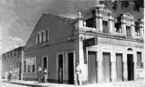 Centro de Barreiras (próximo ao cais), no início do século 20