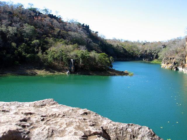 A Lagoa Azul, próxima à Barreiras